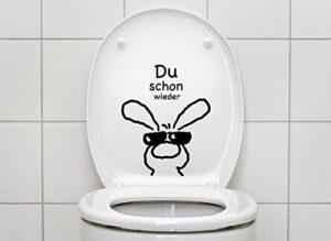 WC Sitz Aufkleber